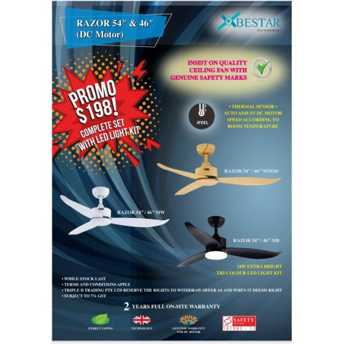 Razor Dc ceiling fan