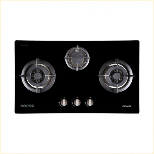 Mayer 76 cm 3 Burner Glass Gas Hob MMGH773
