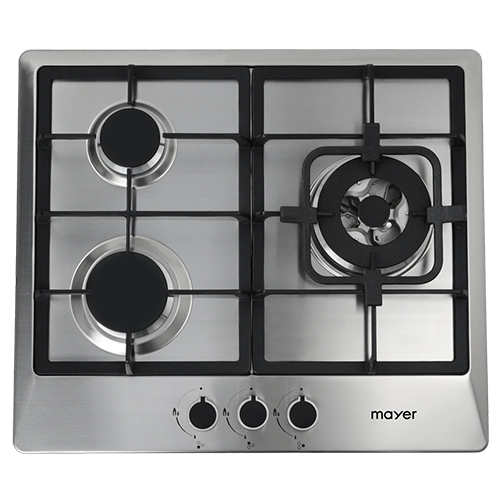 Mayer 60 cm 3 Burner Stainless Steel Gas Hob MMSS633- LPG only