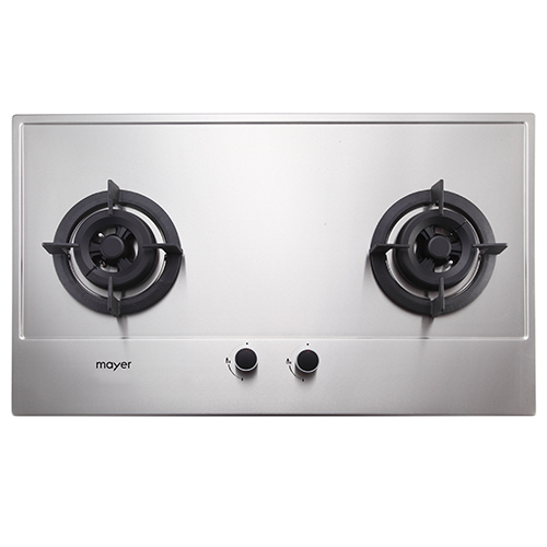 Mayer 76 cm 2 Burner Stainless Steel Gas Hob MMSS772