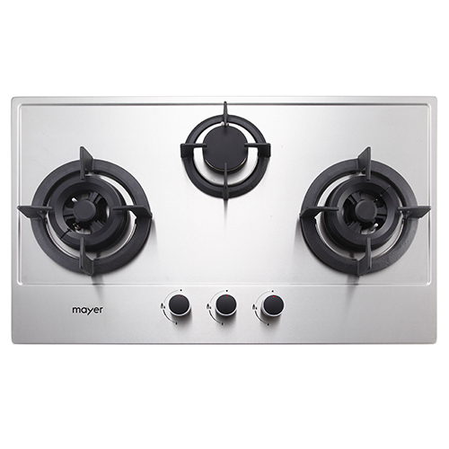Mayer 76 cm 3 Burner Stainless Steel Gas Hob MMSS773