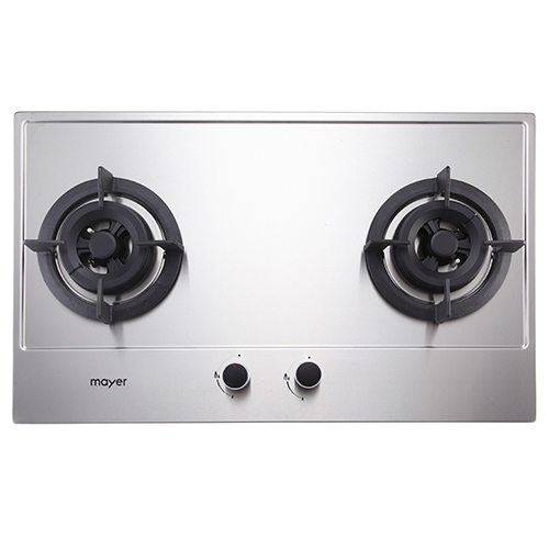 Mayer 86 cm 2 Burner Stainless Steel Gas Hob MMSS882