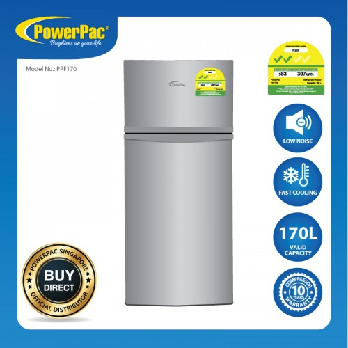 170L 2 DOOR MINI FRIDGE WITH FREEZER PPF170