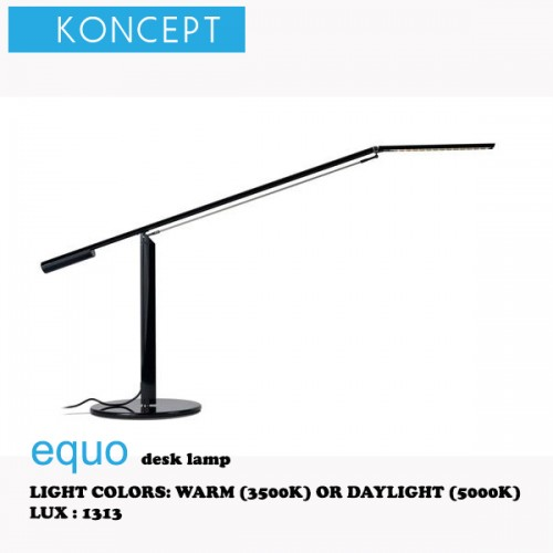 KONCEPT EQUO DESK LAMP BLACK