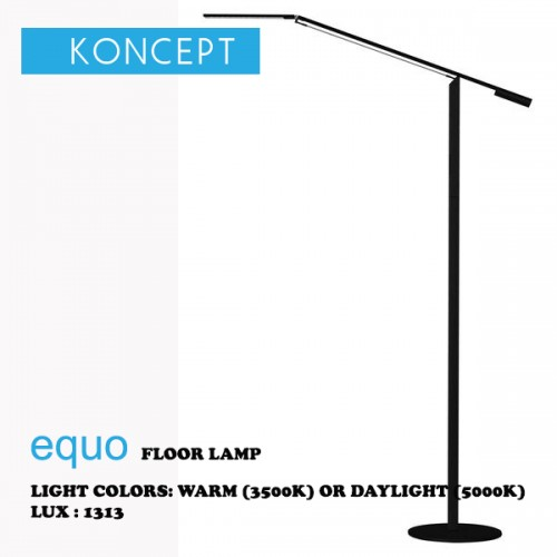 KONCEPT EQUO FLOOR LAMP BLACK