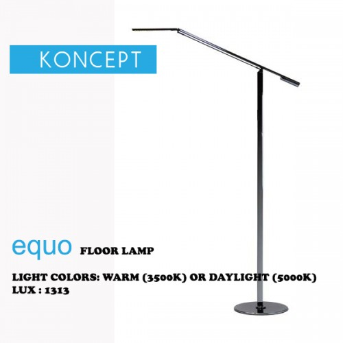 KONCEPT EQUO FLOOR LAMP CHROME