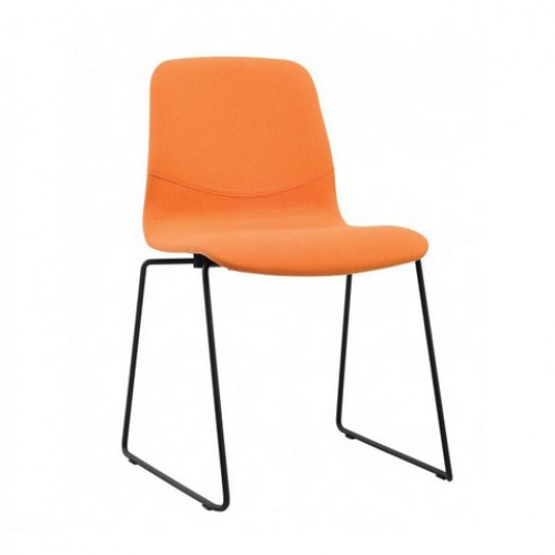 Alyssa Dining chair with cushion -Metal Leg