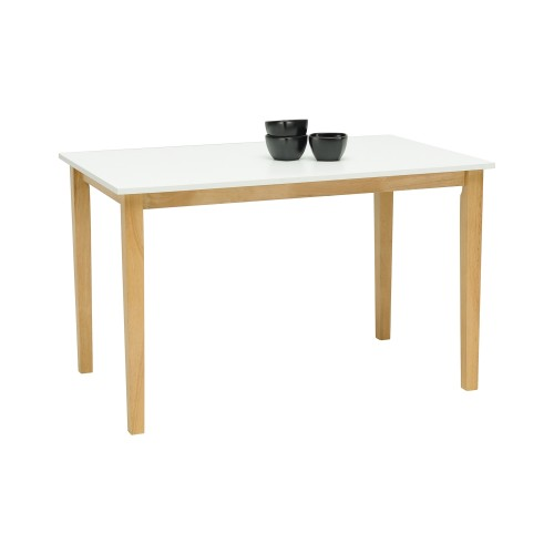 TONY 1.2 METER DINNING TABLE - WHITE