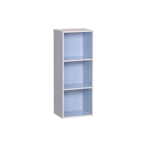 3 tier blue book shelve - 5513002