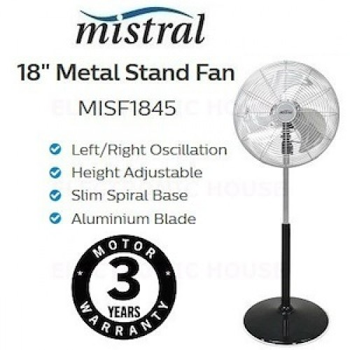 MISTRAL MISF1845 18IN METAL STAND FAN 74W
