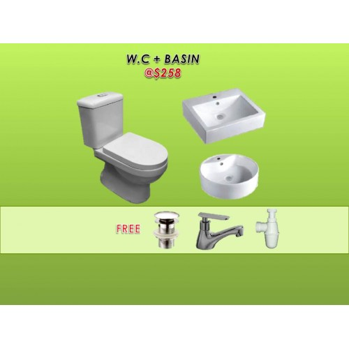 WC + TOILET BOWL PACKAGE