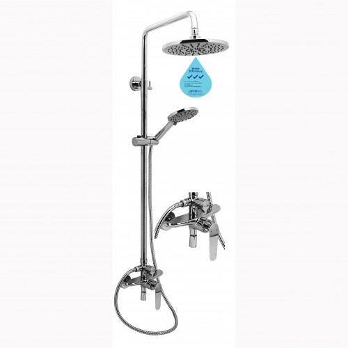 FL-87B RAIN SHOWER SET WITH BRASS MIXER