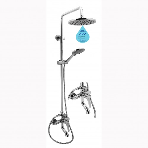 FL-87D RAIN SHOWER SET WITH BRASS MIXER