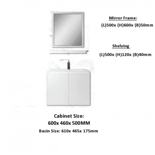 Stainless steel basin cabinet package A