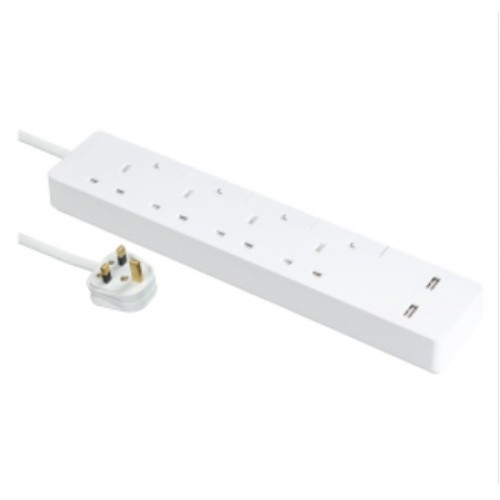 AVATARON EXTEND 4 GANG WHITE SOCKET WITH USB