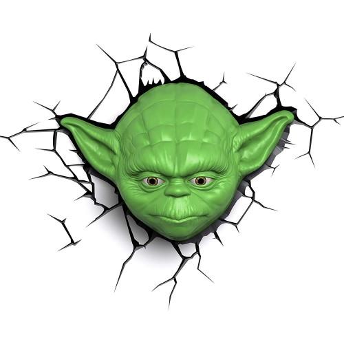 3D Classic Yoda Face Light