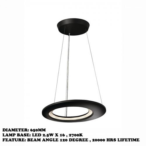 ECLIPTIC pendant LED antracit 16x2.5W