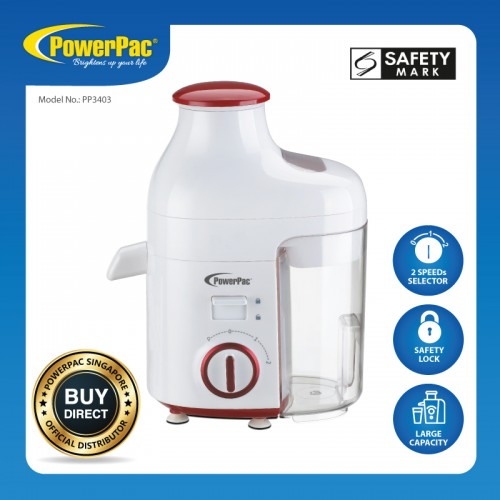 JUICE EXTRACTOR WITH 2 SPEED SELECTOR AND SAFETY LOCK PP3403