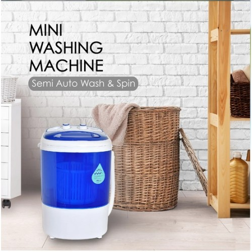 2in1 Mini Washing Machine - 15 Mins Fast Laundry -PPW820