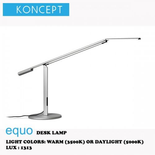KONCEPT EQUO DESK LAMP SILVER