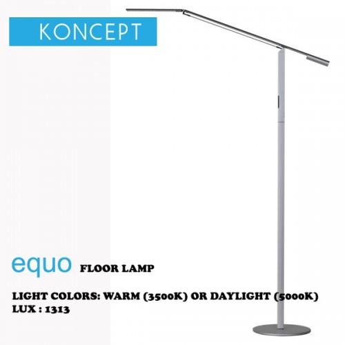 KONCEPT EQUO FLOOR LAMP SILVER
