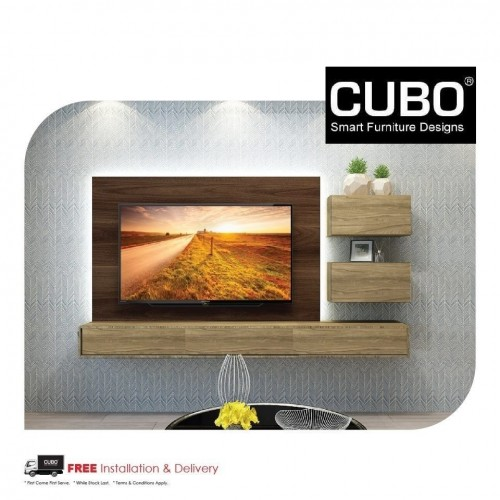 CUBO HTCC -8FT TV CONSOLE WITH 2 DECO 24 BOX