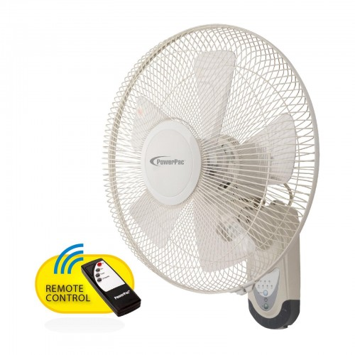 "POWERPAC 16"" WALL FAN WITH REMOTE CONTROL PPWF40R"