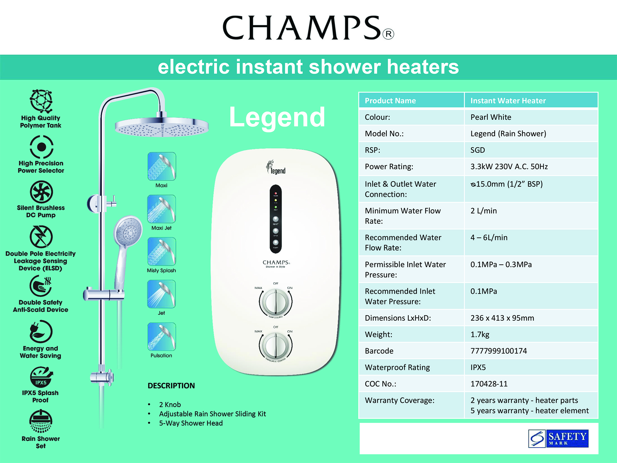 CHAMPS LEGEND WHITE
